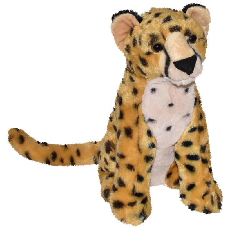 Pluche bruine panter/cheetah knuffel 35 cm speelgoed