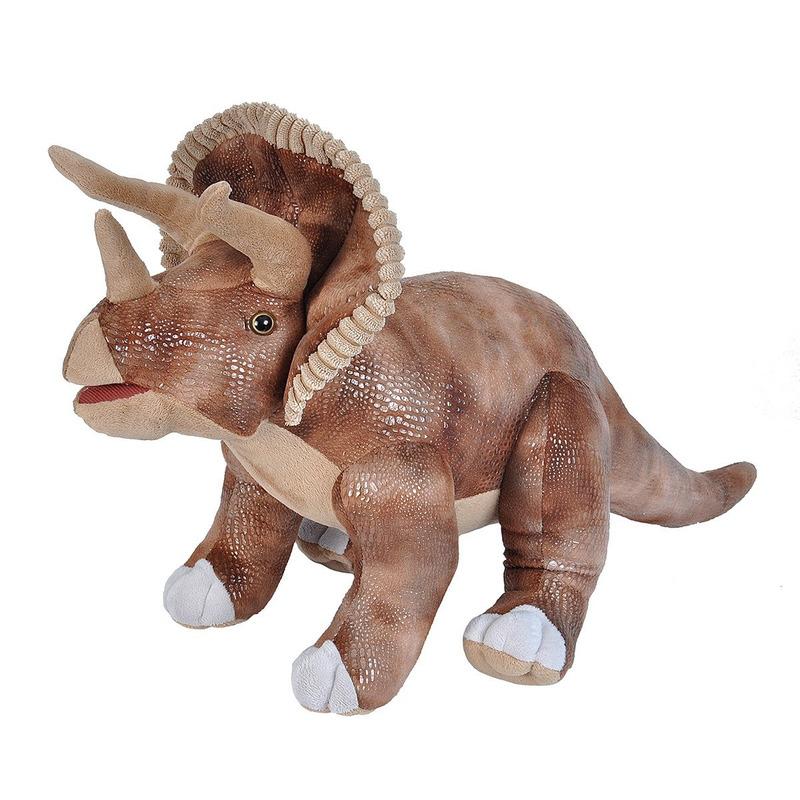 Pluche bruine Triceratops dinosaurus knuffel mega 63 cm