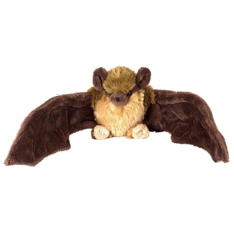 Pluche bruine vleermuis/vleermuizen knuffel 30 cm speelgoed