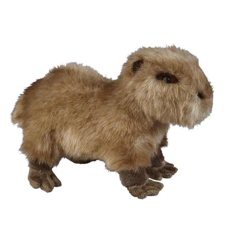 Pluche bruine waterzwijn/capibara knuffel 28 cm speelgoed