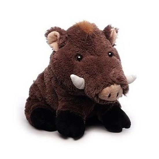 Pluche bruine wilde zwijnen knuffel 21 cm speelgoed