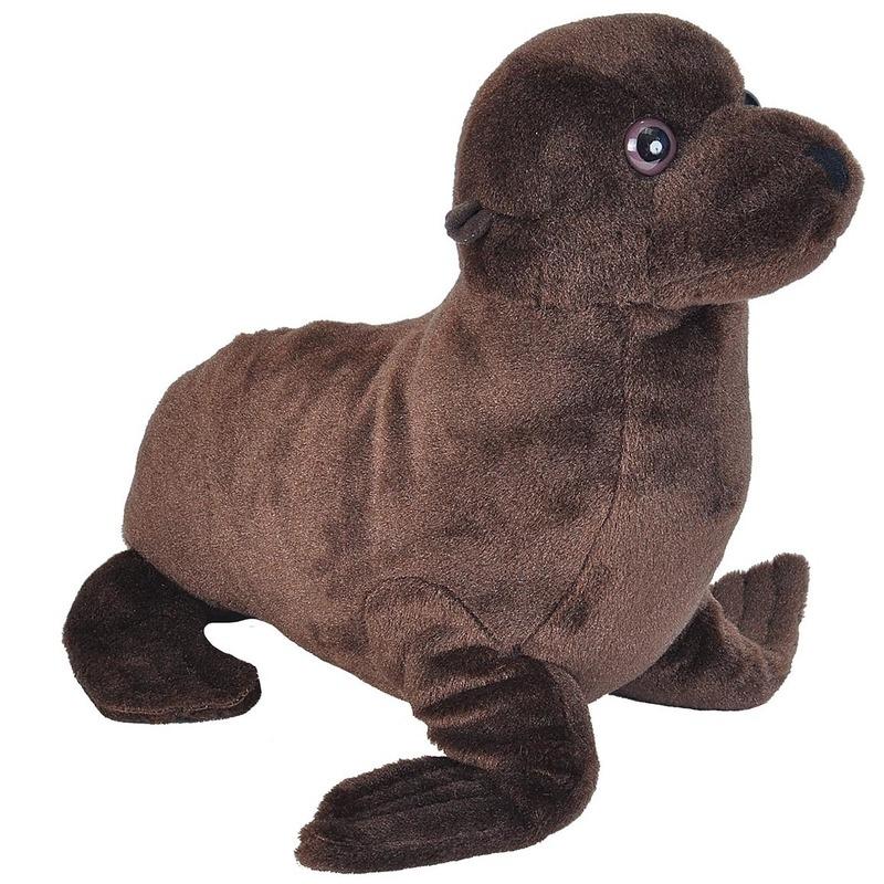 Pluche bruine zeeleeuw knuffel 35 cm speelgoed