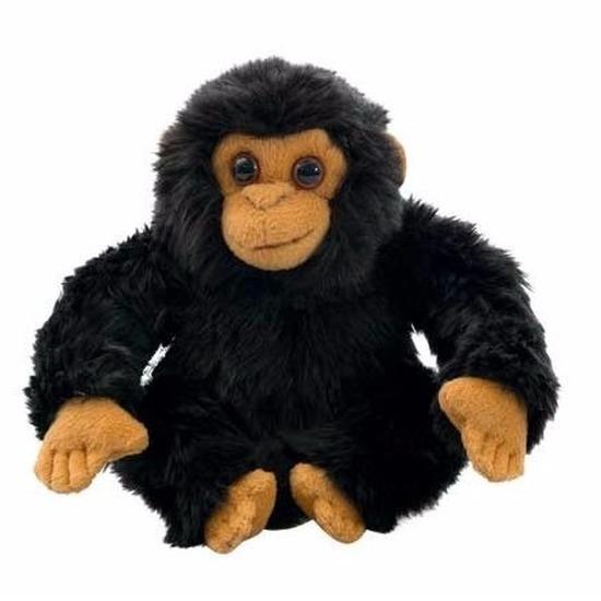 Pluche chimpansee knuffeldieren 18 cm