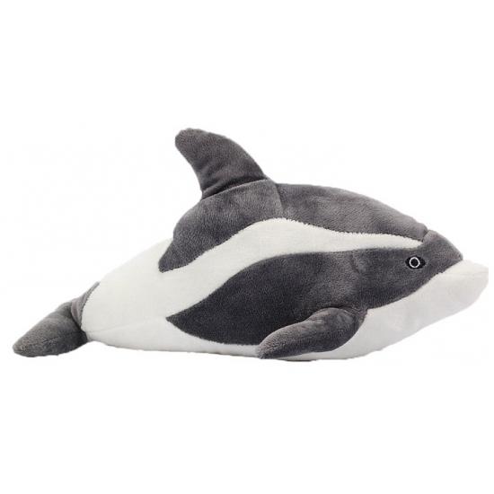 Pluche dolfijn grijs 35 cm