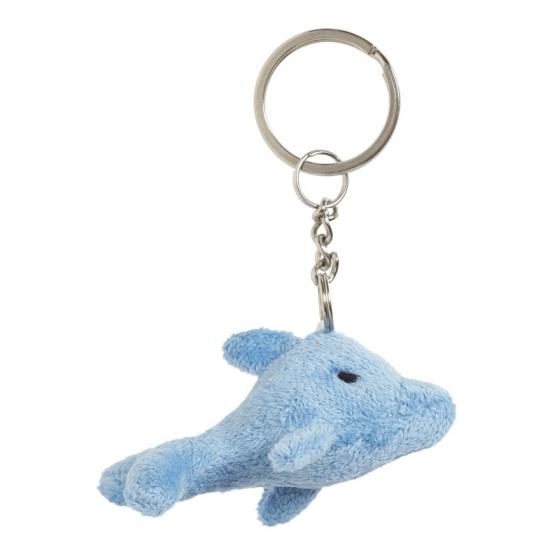 Pluche dolfijn sleutelhangertje 6 cm