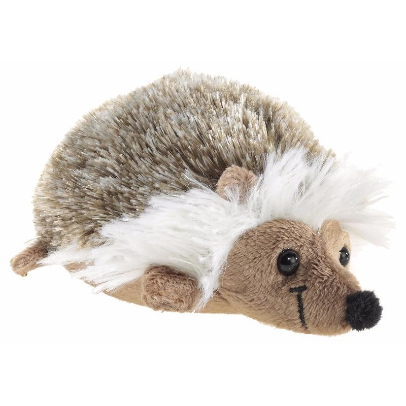 Pluche egel knuffel liggend 12 cm