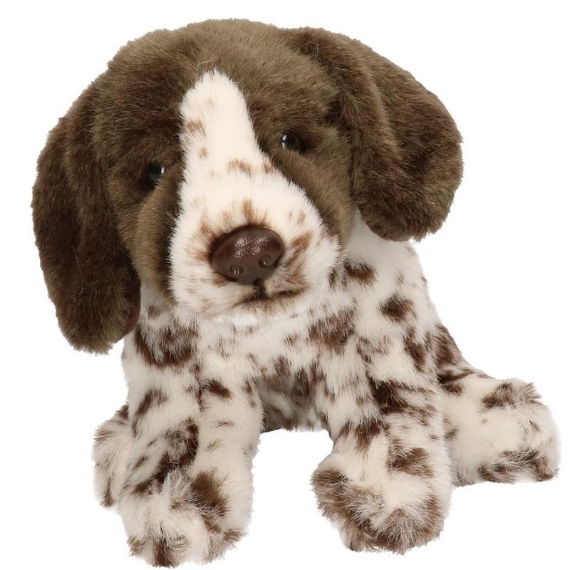 Pluche Engelse Pointer honden knuffel 17 cm speelgoed