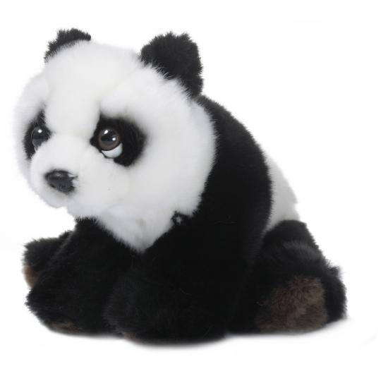Pluche floppy panda beren 15 cm