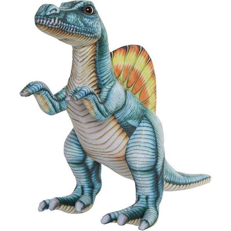 Pluche gekleurde Spinosaurus dinosaurus knuffel 40 cm speelgoed