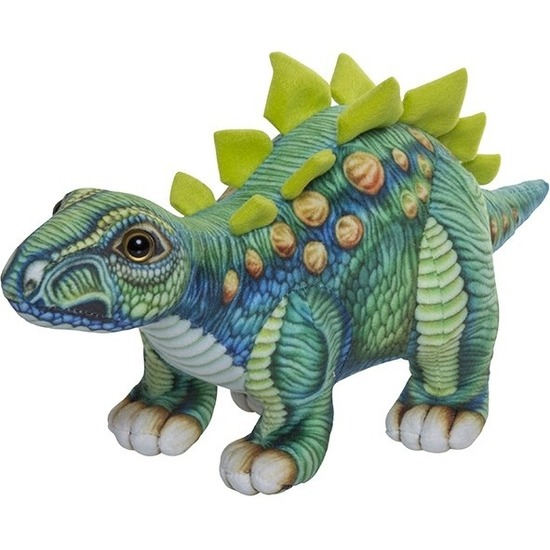 Pluche gekleurde Stegosaurus dinosaurus knuffel 30 cm speelgoed