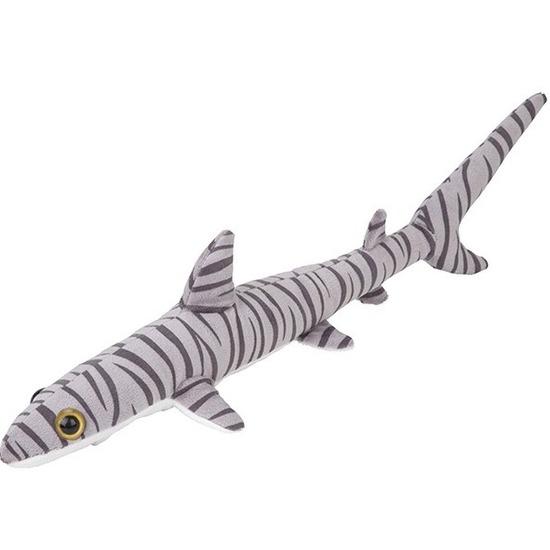 Pluche gestreepte tijgerhaai knuffel 60 cm speelgoed