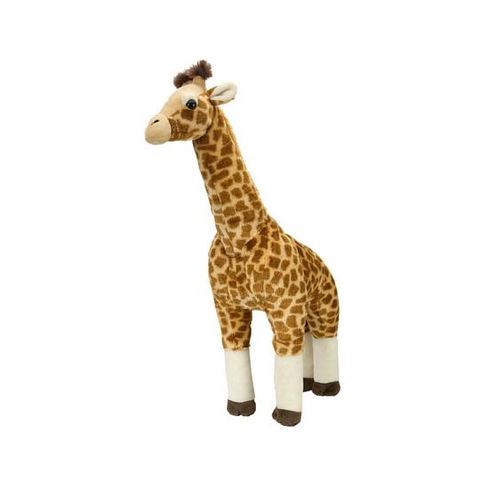 Pluche giraffes met kraalogen 63 cm
