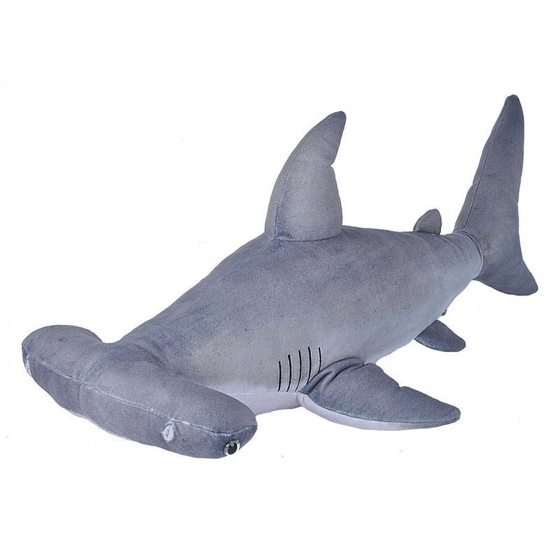 Pluche grijze hamerhaai knuffel 55 cm speelgoed