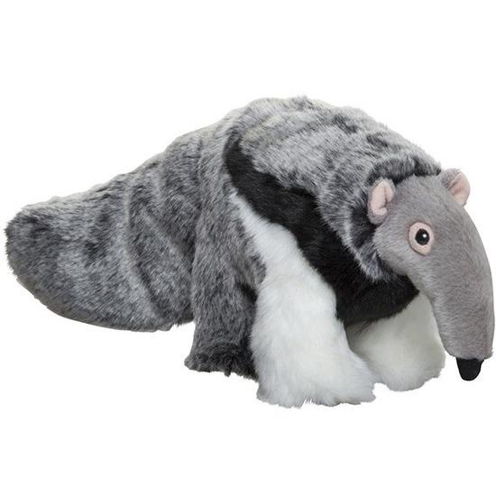 Pluche grijze miereneter knuffel 40 cm speelgoed