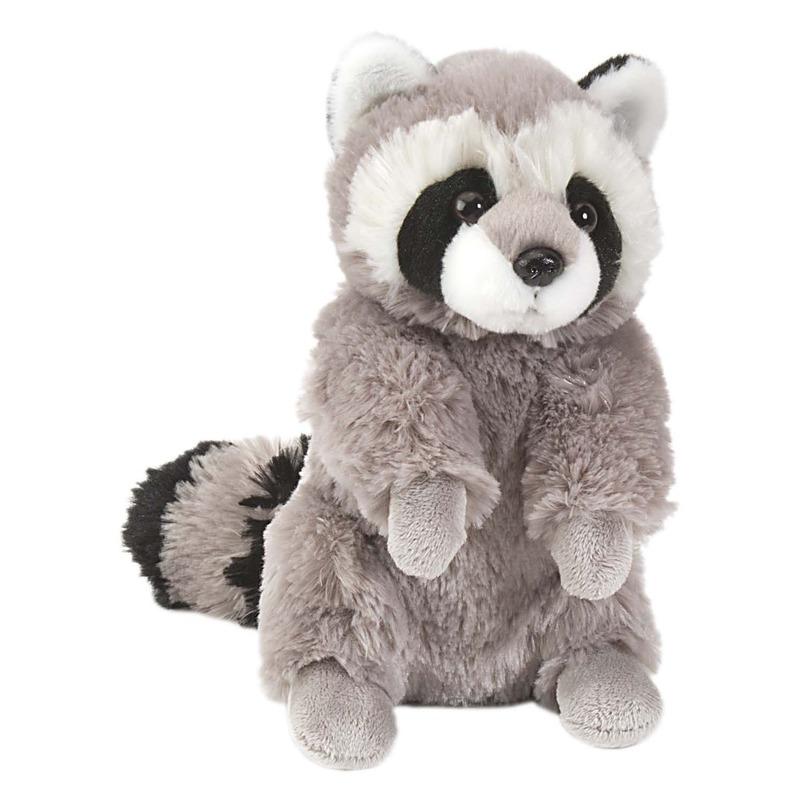 Pluche grijze wasbeer/wasberen knuffel 25 cm speelgoed