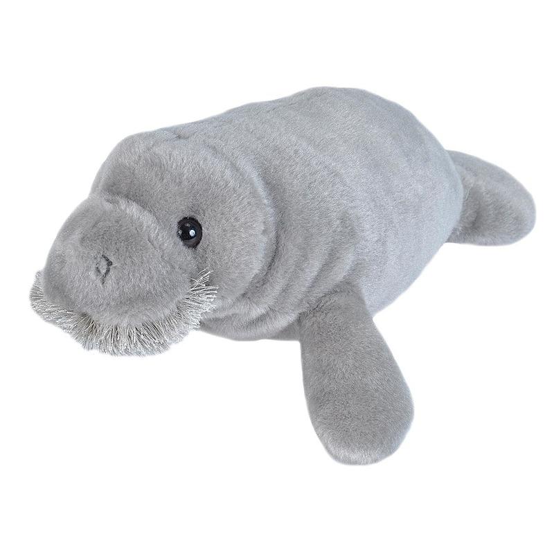 Pluche grijze zeekoe/zeekoeien knuffel 25 cm speelgoed
