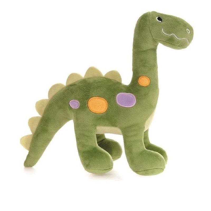 Pluche groene dinosaurus knuffel 27 cm speelgoed