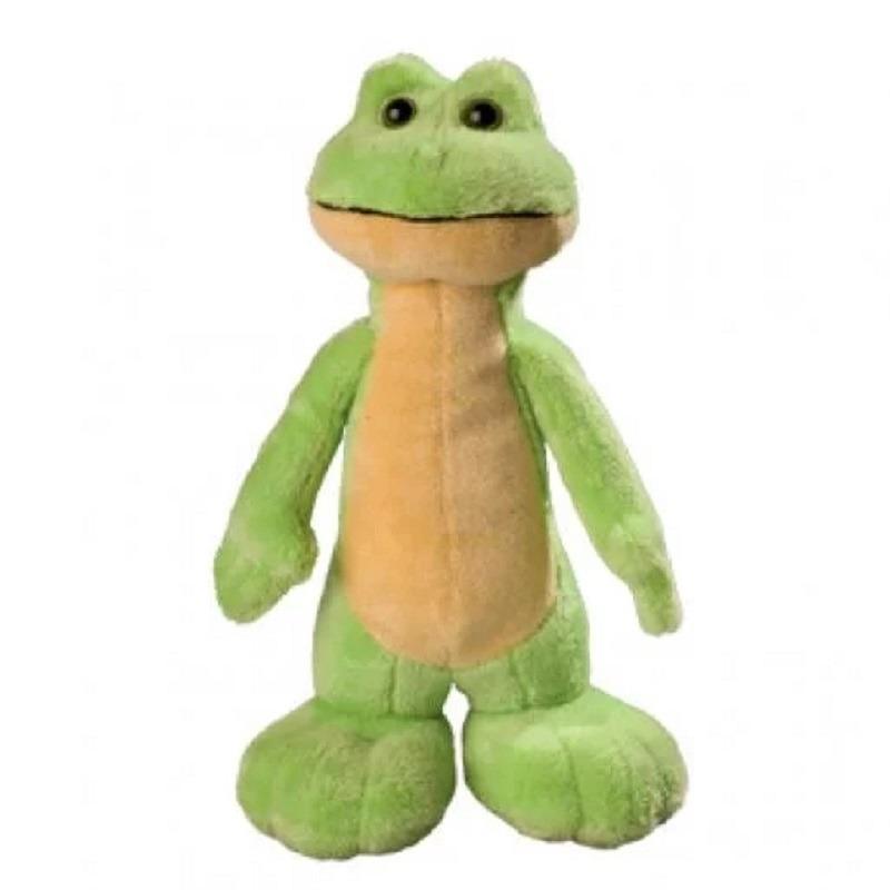 Pluche groene kikker knuffel 25 cm speelgoed