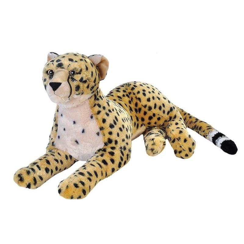 Pluche grote cheetah knuffel 76 cm