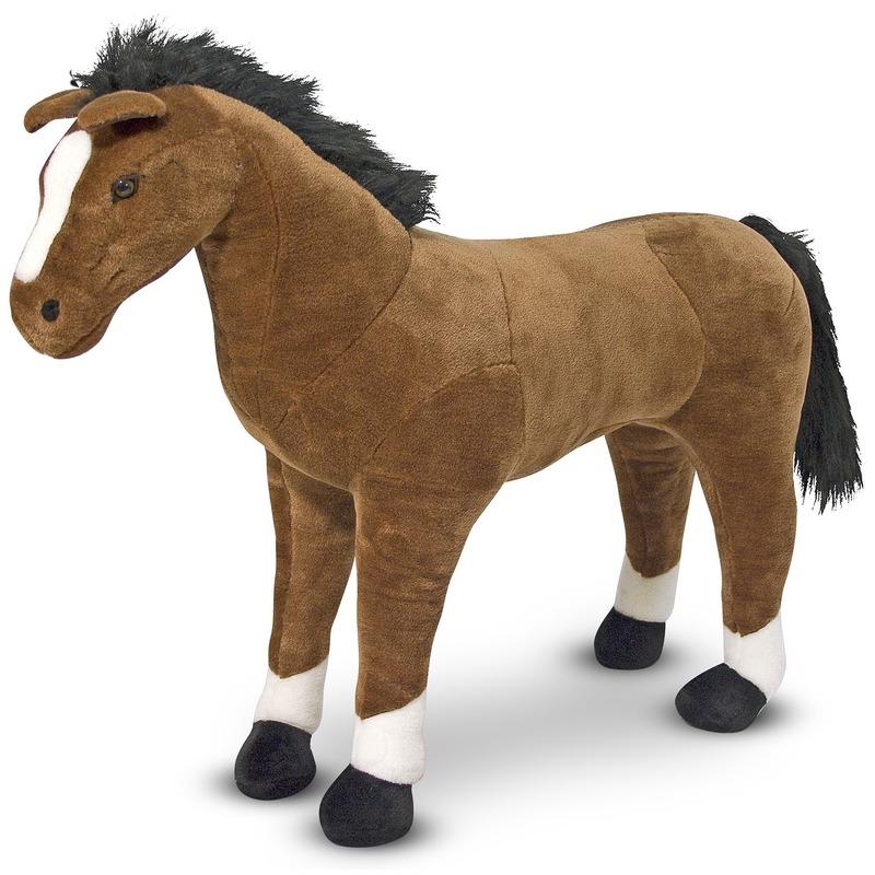Pluche grote paarden knuffel 99 cm speelgoed