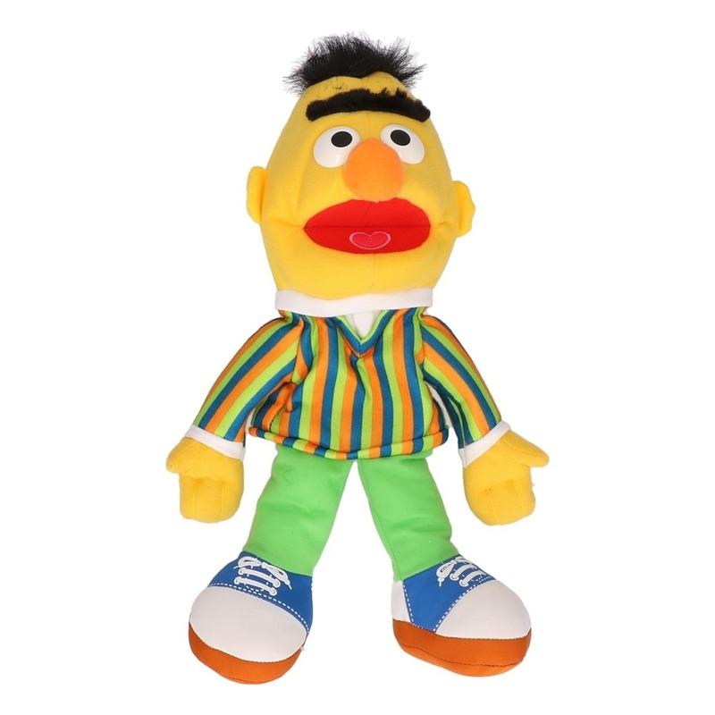 Pluche handpop knuffel Bert Sesamstraat 33 cm
