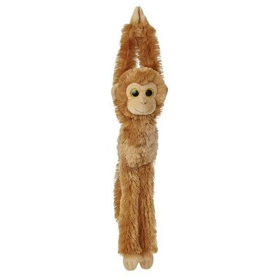 Pluche hangende bruine chimpansee aap/apen knuffel 49 cm
