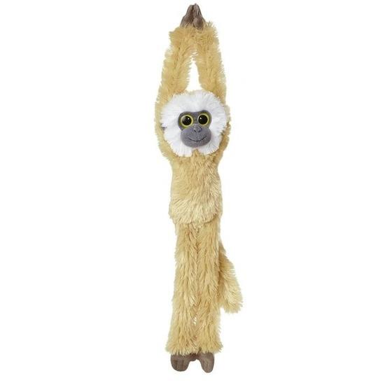 Pluche hangende lichtbruine gibbon aap/apen knuffel 49 cm