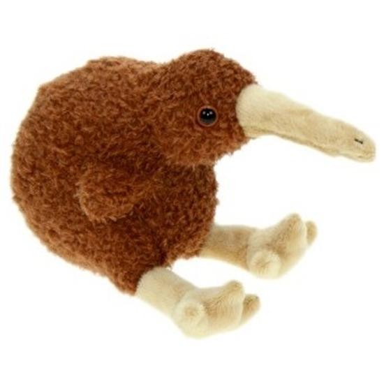 Pluche kiwi vogel knuffel 19 cm