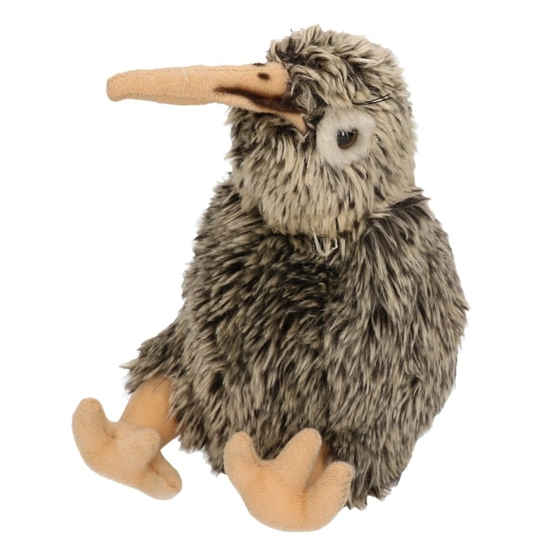Pluche kiwi vogel knuffel 20 cm