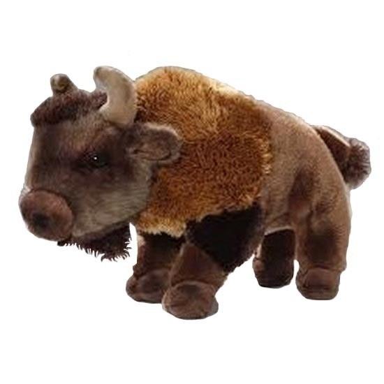 Pluche knuffel bizon 28 cm