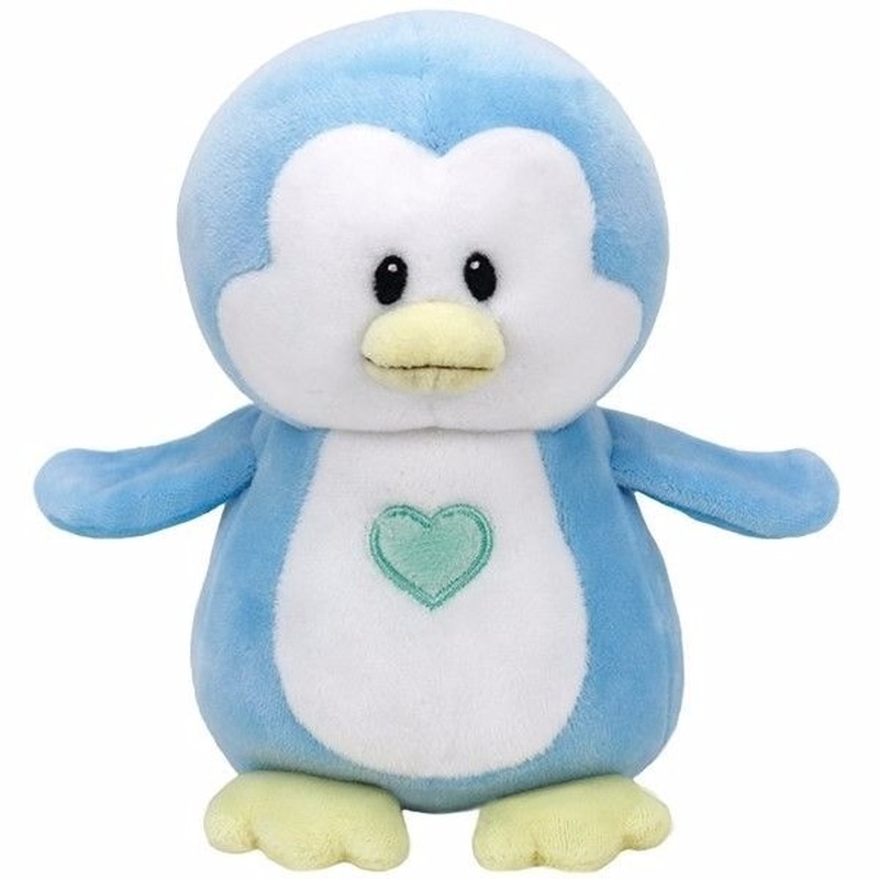Pluche knuffel blauwe pinguin Ty Beanie/Baby Twinkles 24 cm