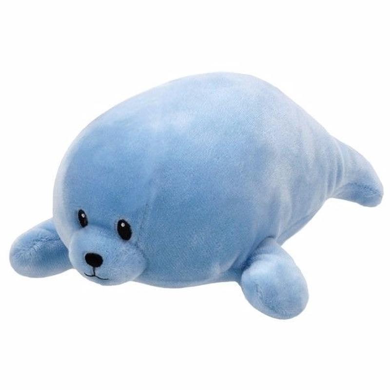 Pluche knuffel blauwe zeehond Ty Beanie/Baby Doodles 24 cm