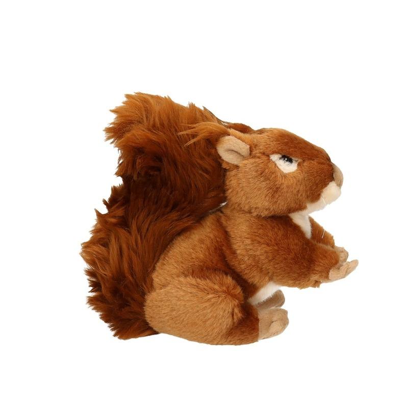 Pluche knuffel eekhoorn zittend 17cm