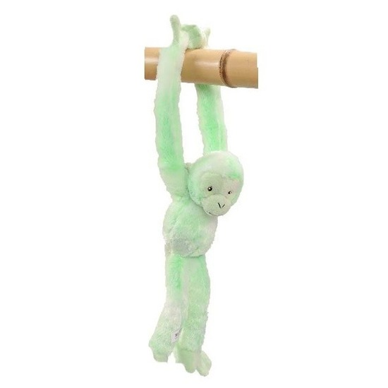Pluche knuffel hangaapje groen 32 cm