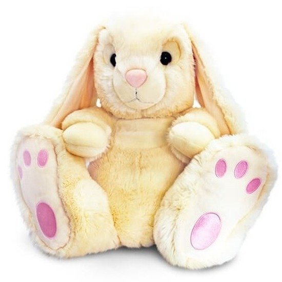 Pluche knuffel konijntjes beige 25 cm