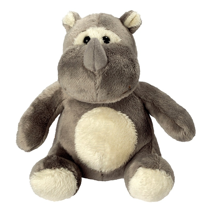 Pluche knuffel neushoorn 12 cm
