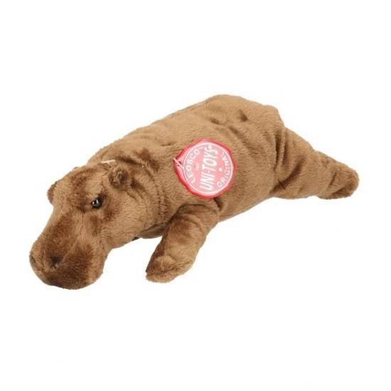 Pluche knuffel nijlpaarden 25 cm