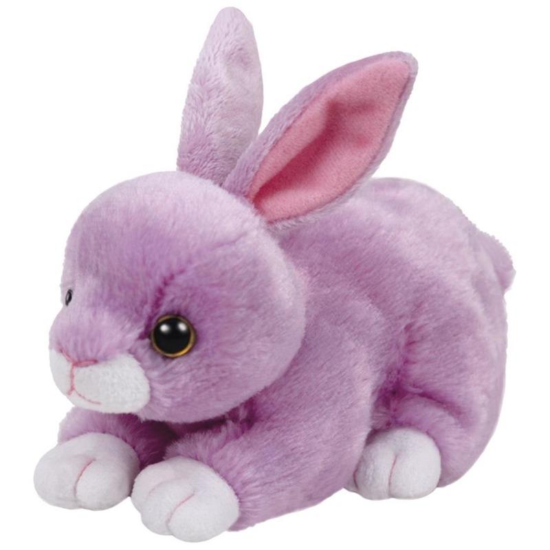 Pluche knuffel paars konijn/haas Ty Beanie Dash 15 cm