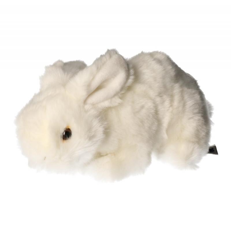Pluche konijn wit 20 cm