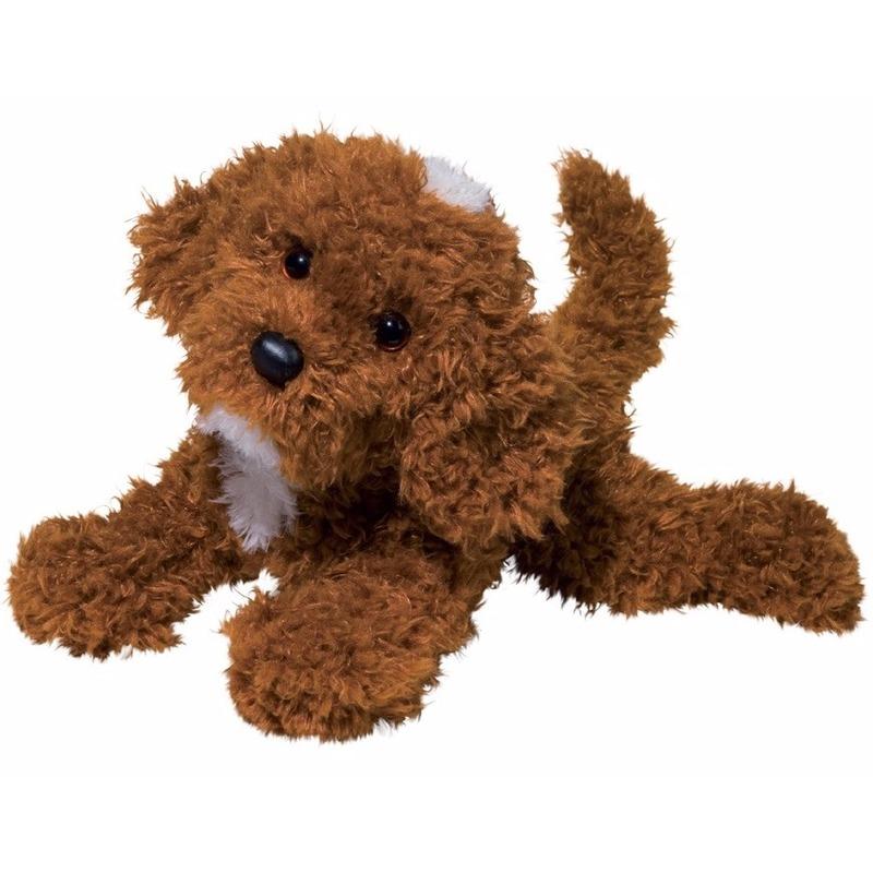 Pluche Labradoodle hond knuffel 41 cm