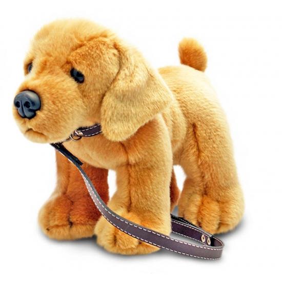 Pluche Labrador knuffeldier aan lijn