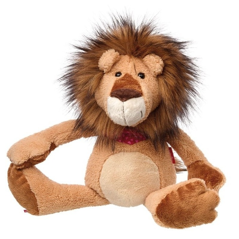 Pluche leeuw knuffel met sjaaltje 47 cm