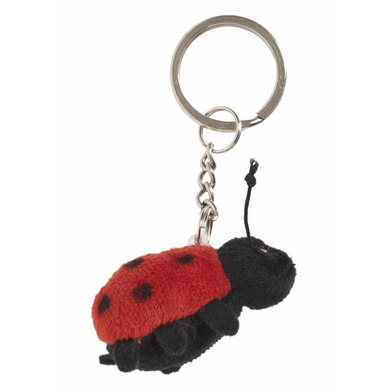 Pluche lieveheersbeestje sleutelhanger 6 cm
