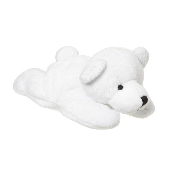 Pluche liggende ijsbeer 13 cm