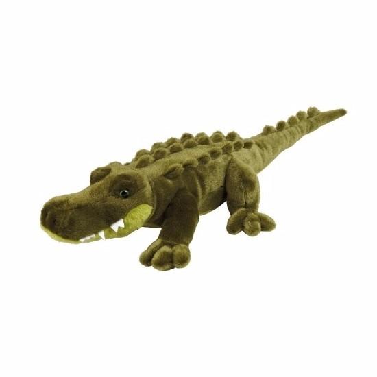 Pluche liggende krokodillen knuffel 60 cm