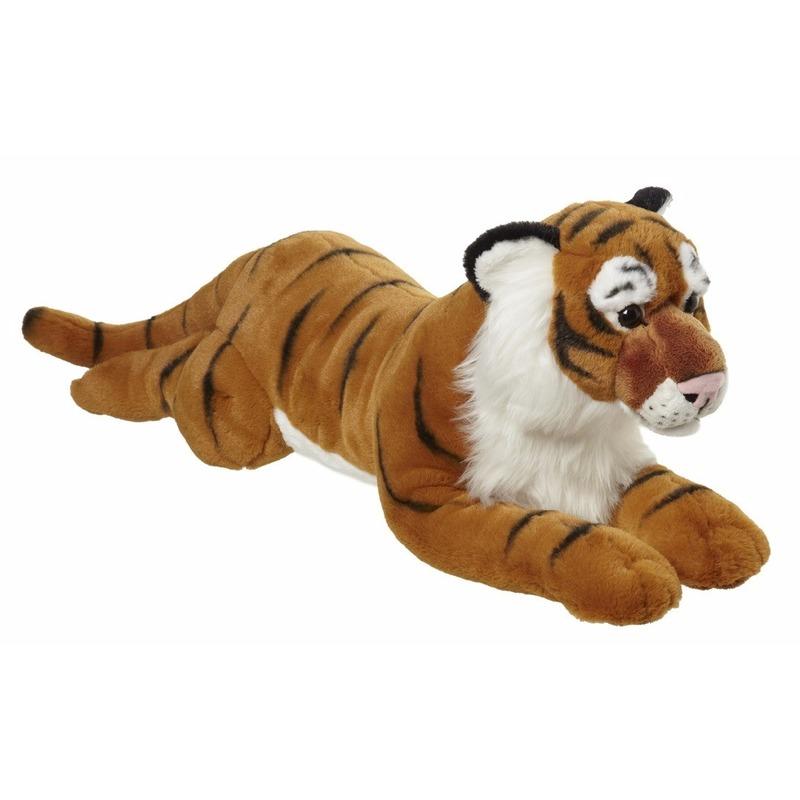 Pluche liggende tijger knuffel 70cm
