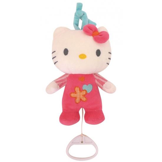 Pluche muziekknuffel Hello Kitty