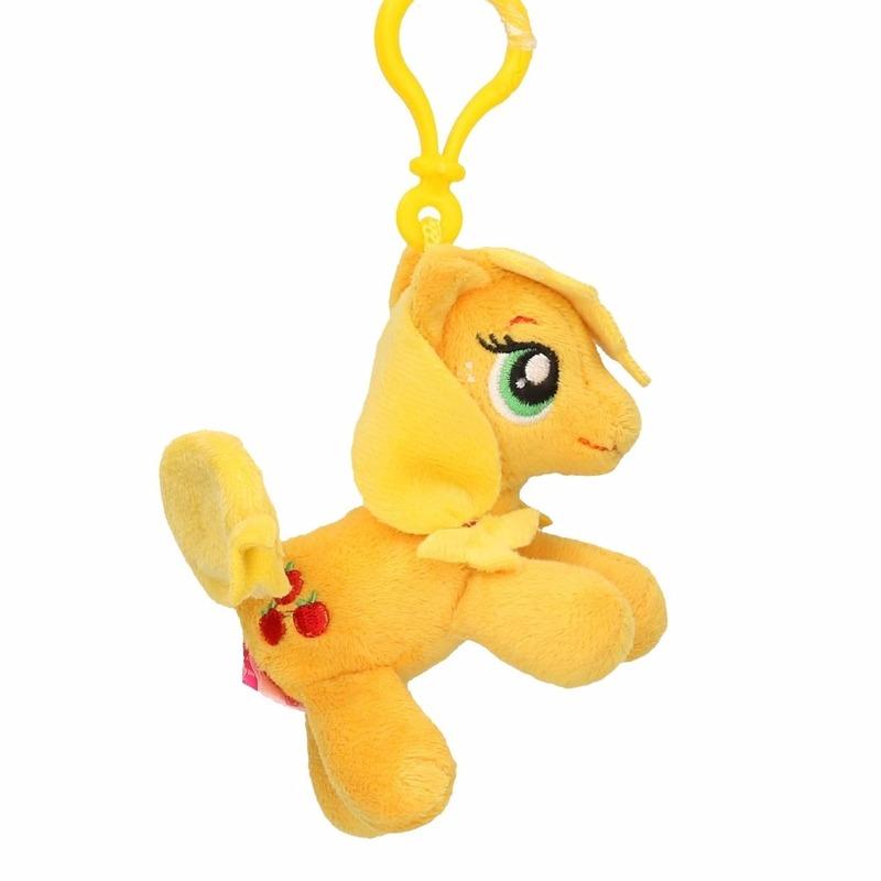 Pluche My Little Pony knuffel Applejack geel 8 cm