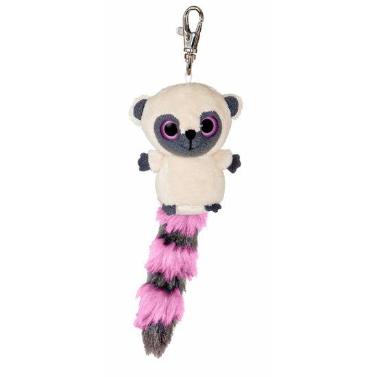 Pluche nacht aap sleutelhanger roze 7,5 cm