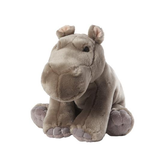 Pluche nijlpaard zittend 22 cm